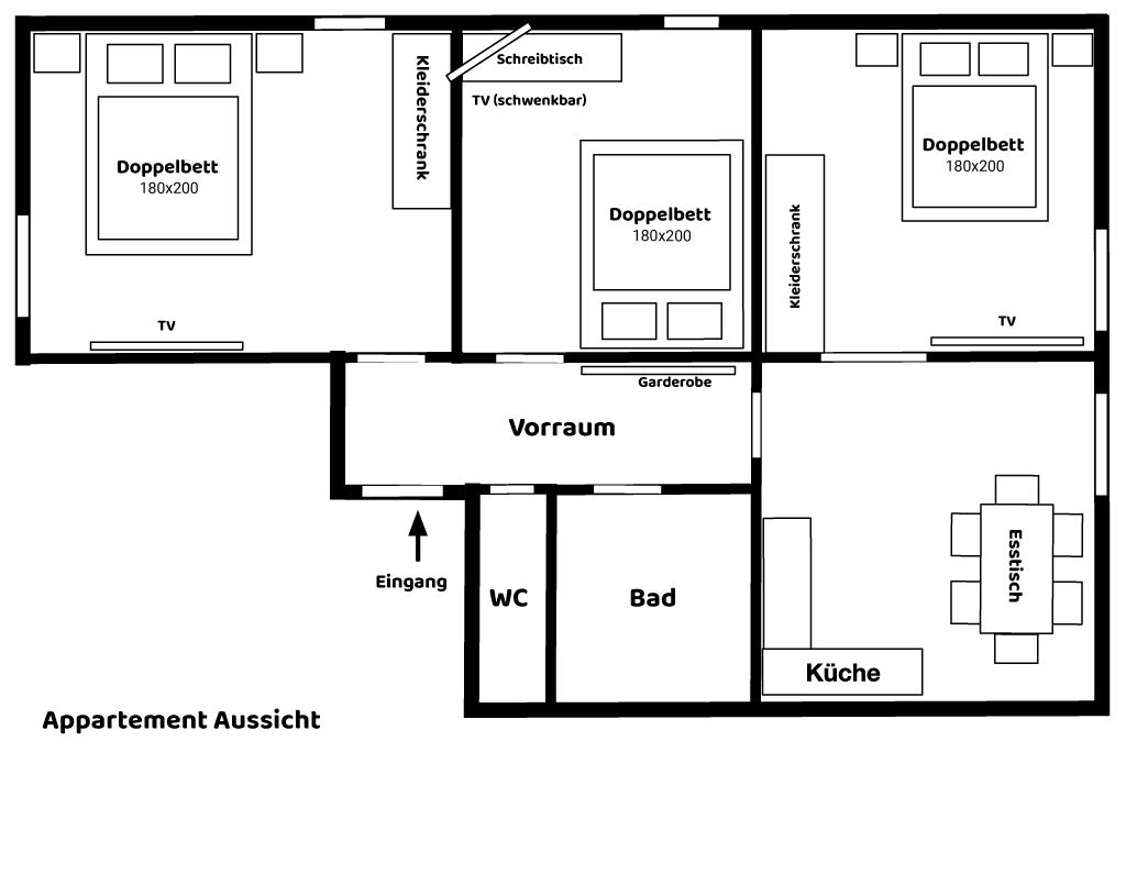 Appartement Aussicht