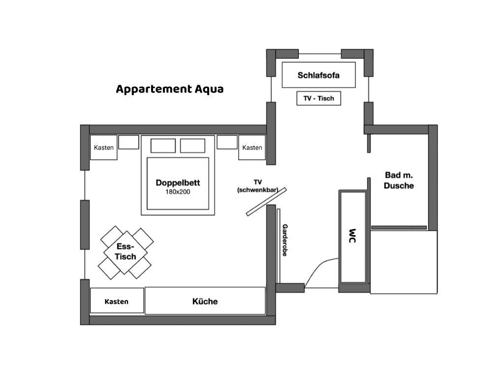 Appartement Aqua Grundriss