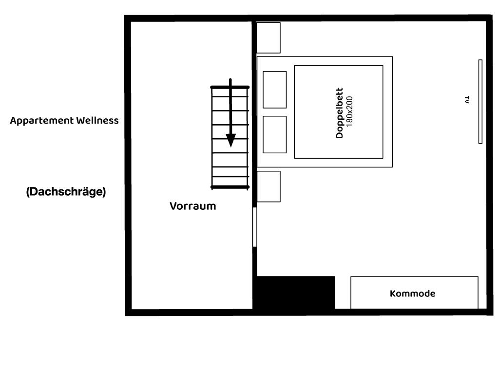 Appartement Wellness Grundriss 2