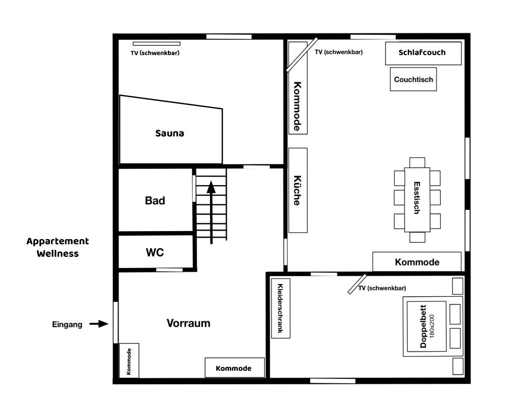Appartement Wellness Grundriss