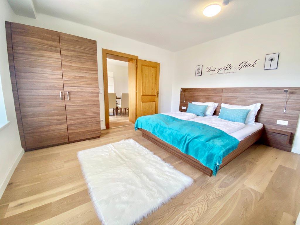 Gartenblick Schlafzimmer