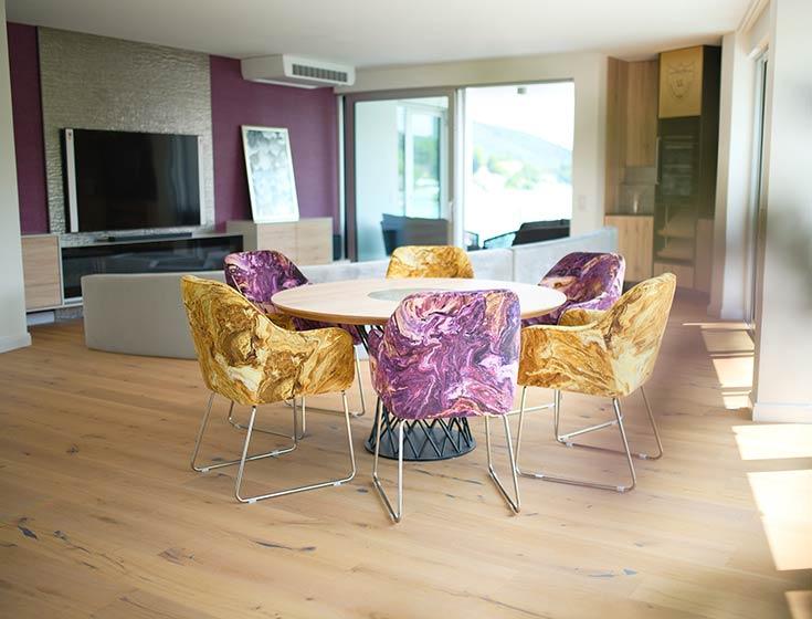 Wohnraum unserer Luxusferienwohnung in Velden (Corso Suite)